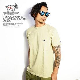 エンドレスサマー 半袖Tシャツ The Endless Summer TES CALIFORNIA CREW EMB-T -BEIGE- ストリート系 ファッション
