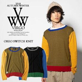 30%OFF SALE セール ヴァルゴ ニット VIRGO OREO SWITCH KNIT【ストリート系 ファッション】