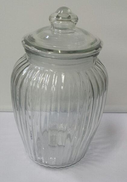 【送料無料!】【Glass Cookie Jar アンティーク ガラスクッキージャー】(容量:2.3L)【10P05Sep15】