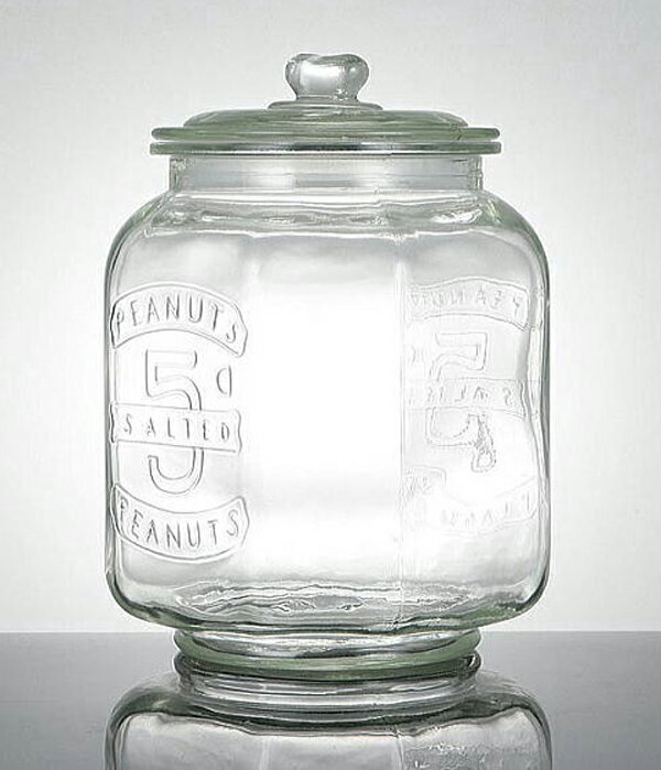 【今だけ送料無料!】【Glass Cookie Jar アンティーク ガラスクッキージャー】(容量:7.0L 米約5kg)【10P05Sep15】