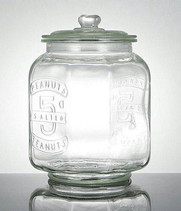 【今だけ送料無料!】【Glass Cookie Jar アンティーク ガラスクッキージャー】(容量:7.0L 米約5kg)【10P05Sep15】