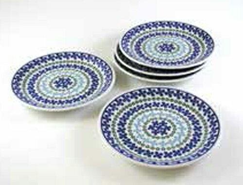 【garland(ガーランド)】軽量磁器で驚くほど軽い!ポーリッシュポタリー(ポーランド風食器) ケーキ皿セット(5枚組)【10P05Sep15】