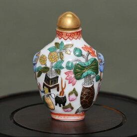 色鮮やかに咲き誇る花鼻煙壺180122鼻煙壷 鼻煙壺 中国 芸術 シノワズリー インテリア コレクション 嗅ぎたばこ入れ アンティーク 小物 コレクター 垂涎