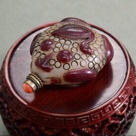 甲羅に家鴨をのせた銭亀鼻煙壺180929鼻煙壷 鼻煙壺 中国 芸術 シノワズリー インテリア コレクション 嗅ぎたばこ入れ アンティーク 小物 コレクター 垂涎