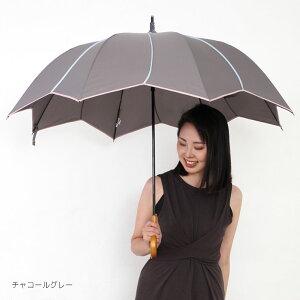 グレードアップ!雨傘レディース長傘大判深張り【フラワースタイル大判ジャンプ深張りアンブレラ】雨傘レディース長傘大判深張り大きい大きめポップジャンプ傘ジャンプ雨傘梅雨