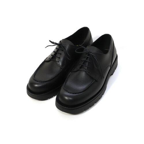 KLEMAN【クレマン】-Froda /Blucher Moc Shoes (Black)【 Uチップ】