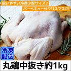 丸どり(冷凍)1000g1羽【国産】【送料無料】【丸どり】【丸鶏】【中抜き】