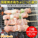 国産焼鳥40本 ちょこっと盛り★焼き鳥セット 送料無料五穀味鶏 もも串×20本、ももねぎ串×20本 焼き鳥 焼鳥 ヤキト…