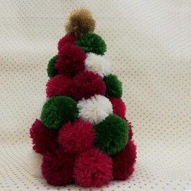 スーパーポンポンメーカーで作るクリスマスカラーのツリー作成キット