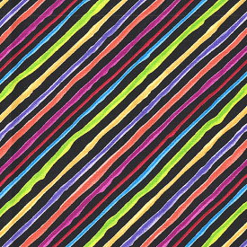 Loralie Designs ローラライ ハリス (ロラライ ハリス)デザイン Quirky Bias Stripe(ストライプ) 総柄(ブラック)【30cm以上10cm単位】