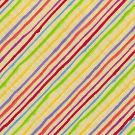Loralie Designs ローラライ ハリス (ロラライ ハリス)デザイン Quirky Bias Stripe(ストライプ) 総柄(イエロー)【30cm以上10cm単位】
