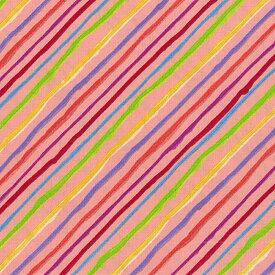 Loralie Designs ローラライ ハリス (ロラライ ハリス)デザイン Quirky Bias Stripe(ストライプ) 総柄(オレンジ)【30cm以上10cm単位】