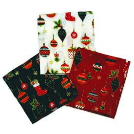 クリスマス生地(布)クリスマスオーナメント 靴下柄 モチーフ カットクロス3枚セット