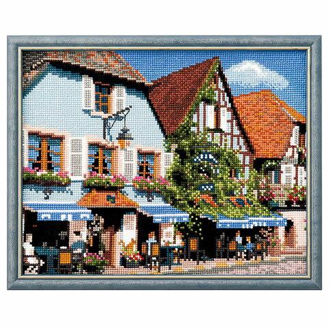 クロスステッチ 刺繍 キット (刺しゅう キット)ルシアン フランスの風景 アルザス地方のカフェ