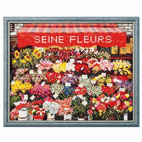 クロスステッチ 刺繍 キット (刺しゅう キット)ルシアン フランスの風景 パリの花屋さん