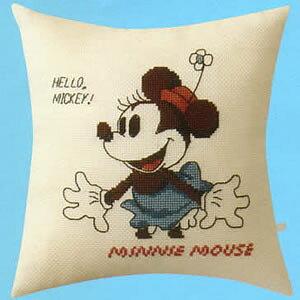 クロスステッチ 刺繍キット(オリムパス 刺しゅうキット)ミニーマウス クッション(ディズニー)