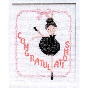 夏休工作(子供手芸)自由研究 小学生 女の子 オリムパス クロスステッチ 刺繍キット バレリーナ