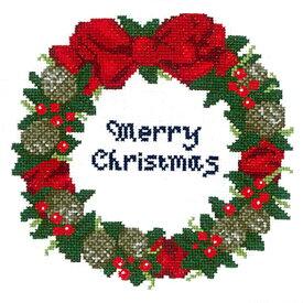 オリムパス クリスマス クロスステッチ 刺繍キット(刺しゅうキット)木の実のリース