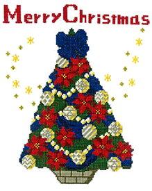 オリムパス クリスマス クロスステッチ 刺繍キット(刺しゅうキット)聖夜のツリー