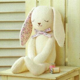 ベビー 手作り(ぬいぐるみキット)オーガニックコットンキット【やわらか手触りのウサギ】