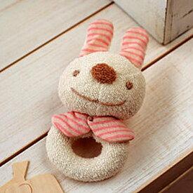 ベビー 手作りオーガニックコットンキットぬいぐるみキット【ウサギのがらがら手作りキット】