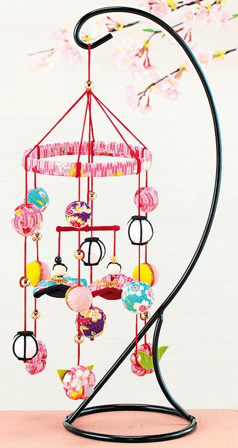 お雛様 手作り キット ちりめん細工 つるし雛 キット つるし飾りのおひなさま(ピンク)