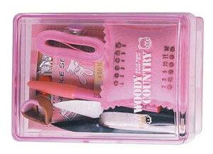 トレミー裁縫セット(ソーイングセット) 小学生 家庭科用抗菌加工ケース(ピンク)