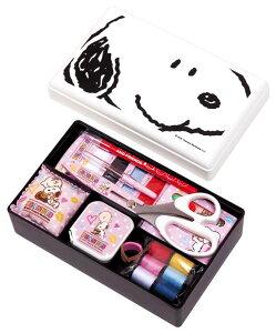 スヌーピー裁縫セット(ソーイングセット) 小学生 女の子 家庭科用コンパクトタイプ(ホワイト)抗菌加工