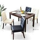 【送料無料】ダイニングテーブルセット ダイニングテーブル5点セット 幅115cm 食卓5点セット 4人用 4人掛け 食卓セット モダン ブラック ホワイト ダイニング シンプル テーブル