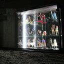 [item] 【新生活】 コレクションボード 幅80 LEDライト付き ワンピースフィギア コレクションケース 背面ミラー キュリオケース コレクションボックス...