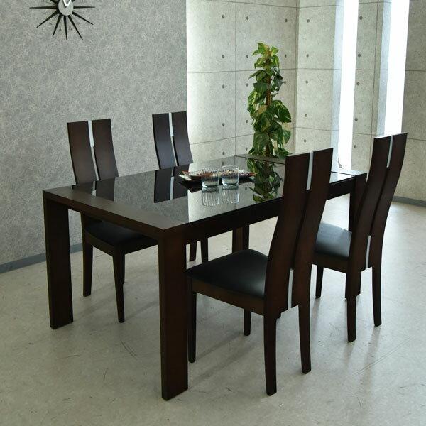 【送料無料】ダイニングテーブルセット ダイニングセット 伸縮式 ダイニング 食卓テーブル セット幅150cm〜210cm ダイニング5点セット 食卓セット シンプル 4人掛け 4人用 テーブル いす イス 椅子 4脚 木製 無垢 強化ガラス 北欧