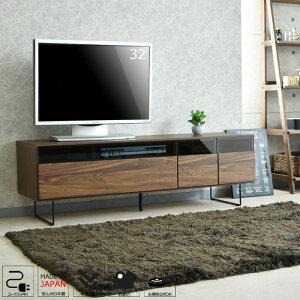 【送料無料】テレビ台テレビボード幅150国産品完成品木製品収納家具リビングボードローボードリビング収納大川家具ウォールナット柄脚付きコンセント付き