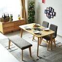 【送料無料】ダイニングテーブルセット 幅120 4点セット 木製 オーク 4人掛け 4人用 カフェスタイル 北欧 おしゃれ 無…