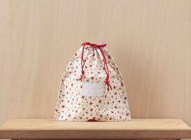 コップ入れ(コップ袋)氏名票つき643赤小花