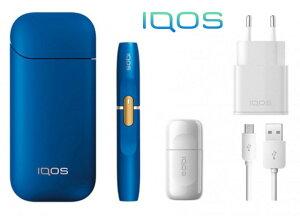 IQOS 2.4plus アイコス 本体 キット 限定 ブルー BLUE 加熱式タバコ 電子タバコ スターターキット 激安 欧州 正規品 新品 未開封