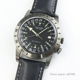GLYCINE AIRMAN VINTAGE THE CHIEF 24時間表示式 GL0252/24H BLACK 自動巻き 時計 腕時計 送料無料