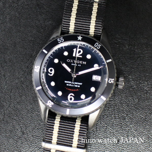 OXYGEN オキシゲン DIVER LEGEND42 ALASKA L-D-ALA-42 クォーツ 腕時計 送料無料