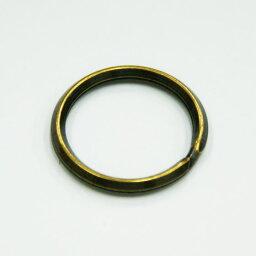 雙重的環25mm KR25T古董黄金1座2個基黄銅古美鍵環鑰匙圈三角形山