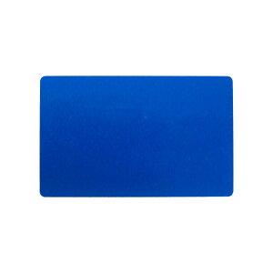 アルミニウムカード 86x54mm 青 名刺サイズ 会員証 しおり メッセージカード