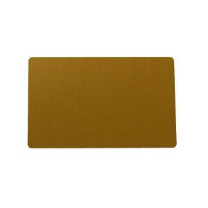 アルミニウムカード 86x54mm 金色 名刺サイズ 会員証 しおり メッセージカード
