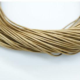 本革 丸紐 1.5mm ゴールデンロッド 1M単位の切り売り 皮ひも 金 ゴールド 桃色 革紐 皮紐 革ひも レザーコード