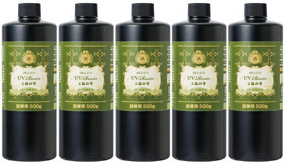 パジコ UVレジン 太陽の雫 詰替用 ハードタイプ 500g 5本セット UVレジン液 PADICO