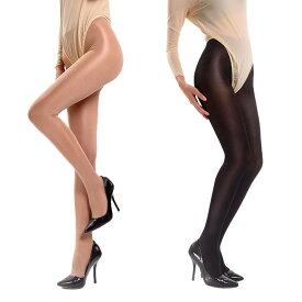 光沢ストッキング グロスの強いパンスト(ホーザリー) pantyhose 50デニールのタイツ Panty-stocking 黒(ブラック) ベージュ(ヌード) シナモン(濃いベージュ) ぱんてぃ パンティ&ストッキング DY-0178