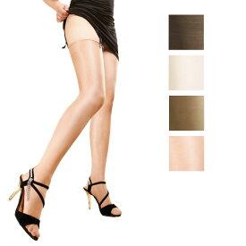切り替えなし オールスルー グロスの強いタイハイストッキング 極薄10デニール 4色 黒 白 グレイ ヌード ストッキング