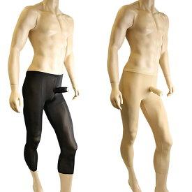 素材にこだわった男性用ストッキング こだわり パンスト サオ付き レギンスタイプ ミルクシルク メンズストッキング メンズランジェリー