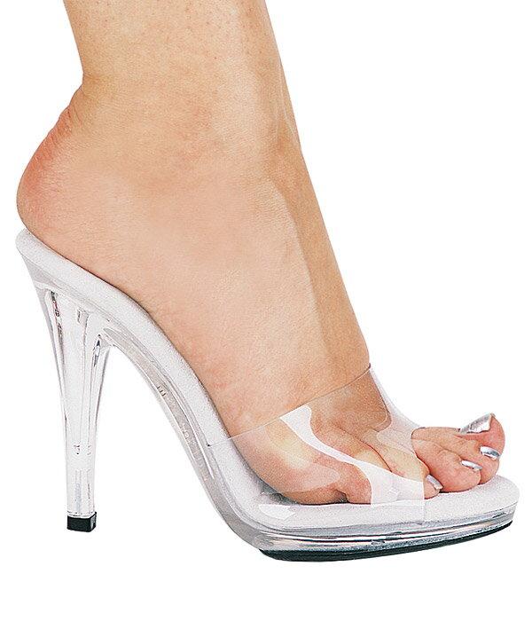 送料無料 Ellie Shoes エリーシューズ/クリア素材のハイヒールミュール/ヒール高約10.5cm(421-VANITY-CLR)