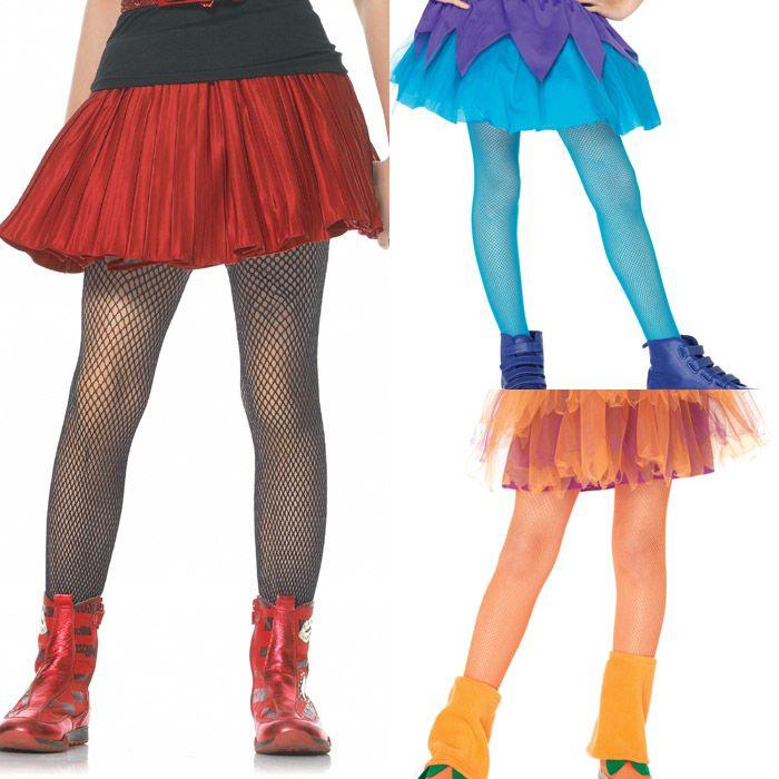 Leg Avenue (レッグアべニュー) シンプルな網タイツ (子供服 キッズ用) 男女兼用 ダンスの発表会やハロウィンに! コスプレ 仮装グッズ 色は黒/白/赤/ピンク/青/紫/オレンジの全7色 LG-4067
