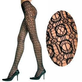Music Legs チェッカー模様のデザインパンスト/伸びのあるスパンデックス素材/50004