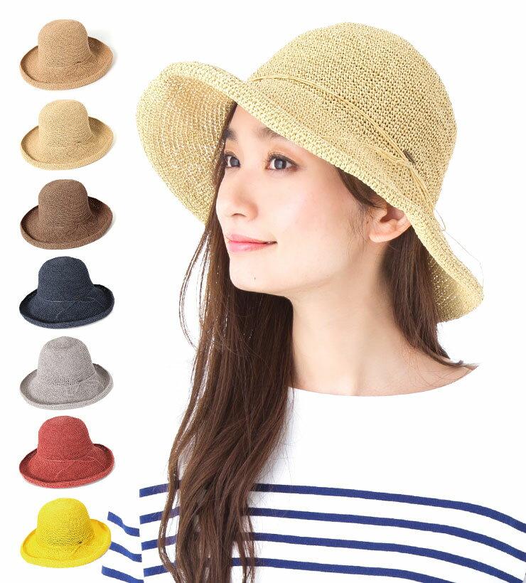 帽子 レディース 春 夏 つば広 麦わら帽子 ( ストローハット ) 選べる7色!サイズ調整機能付き カブロカムリエ   CabloCamurie KIMENO 2017年モデル   送料無料【UNI】