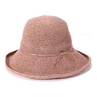 カブロカムリエ帽子レディース細編みでシンプル麦わら帽子春夏ストローハット全9色フリーサイズCabloCamurie【専用あごひも対応】【UNI】